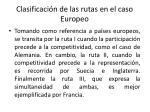 clasificaci n de las rutas en el caso europeo