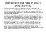 clasificaci n de las rutas en el caso latinoamericano
