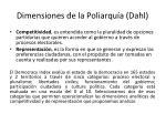 dimensiones de la poliarqu a dahl