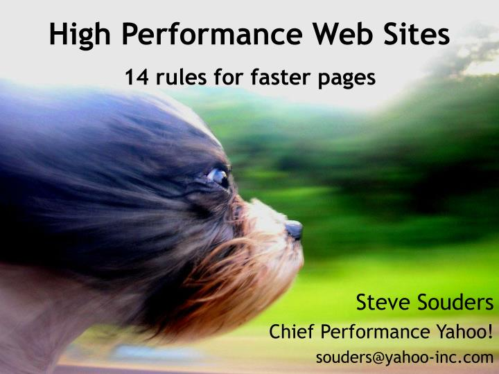 high performance web sites 14 rules for faster pages n.