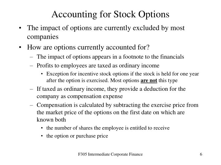 Accounting for Stock Options