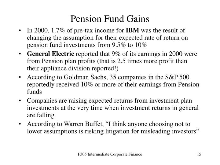 Pension Fund Gains