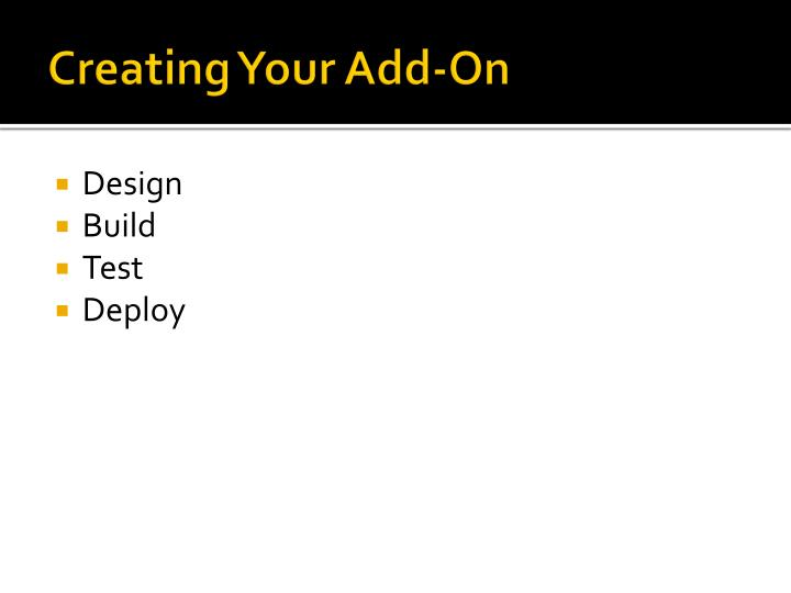 Creating Your Add-On