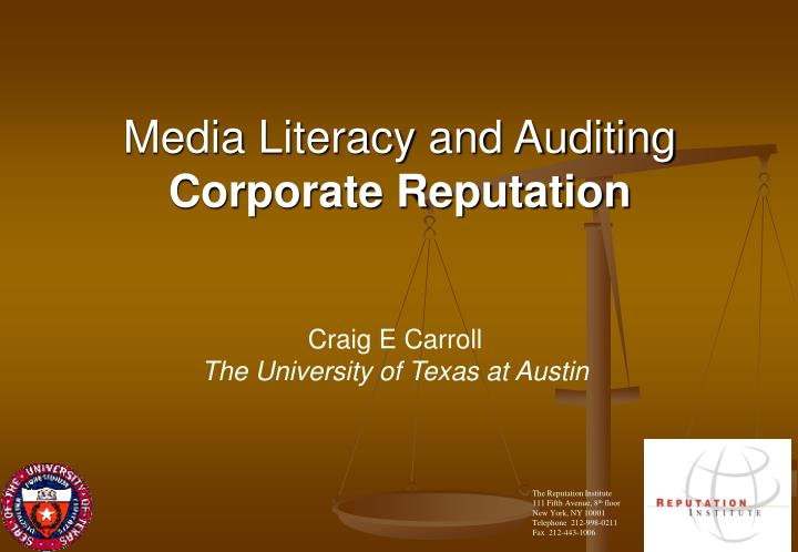 media literacy and auditing corporate reputation n.