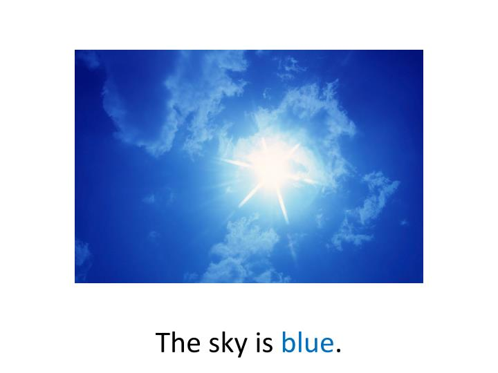 The sky is