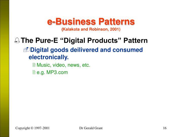 e-Business Patterns