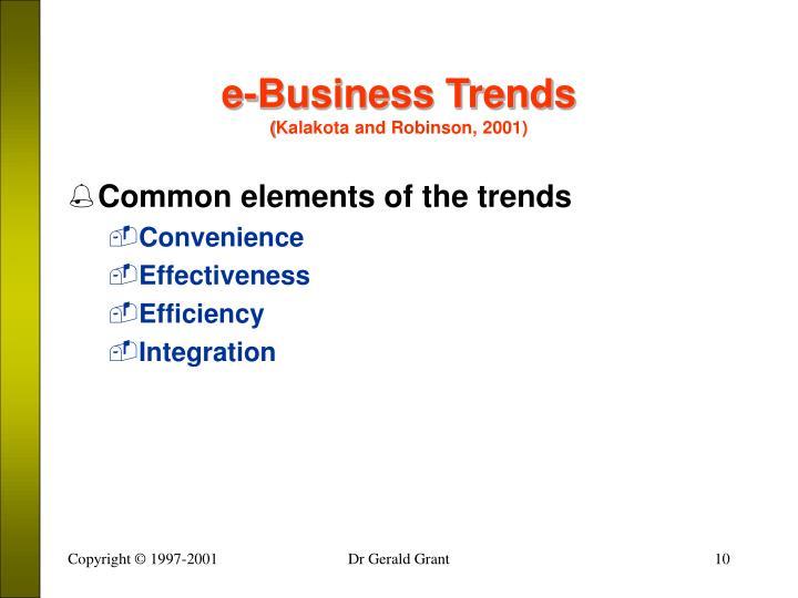 e-Business Trends