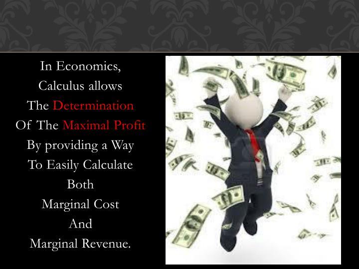 In Economics,