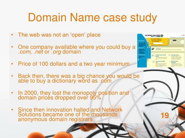 Domain Name case study