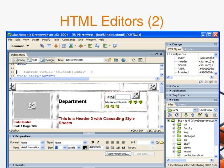 HTML Editors (2)