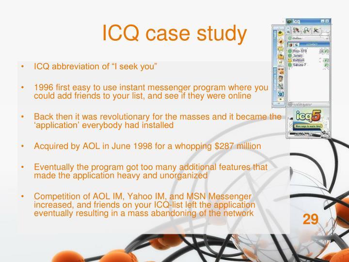 ICQ case study