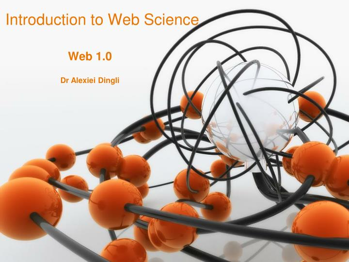 Introduction to web science