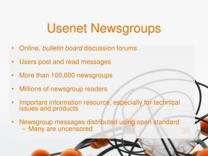Usenet Newsgroups