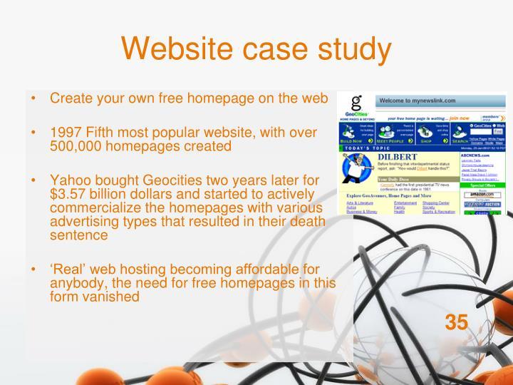 Website case study
