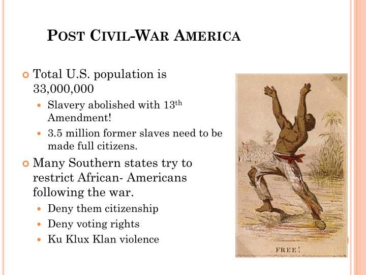 Post civil war america