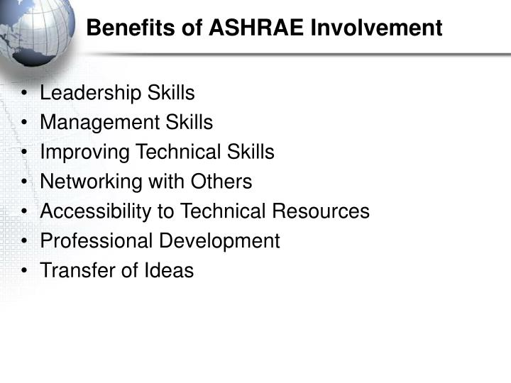 Benefits of ASHRAE Involvement