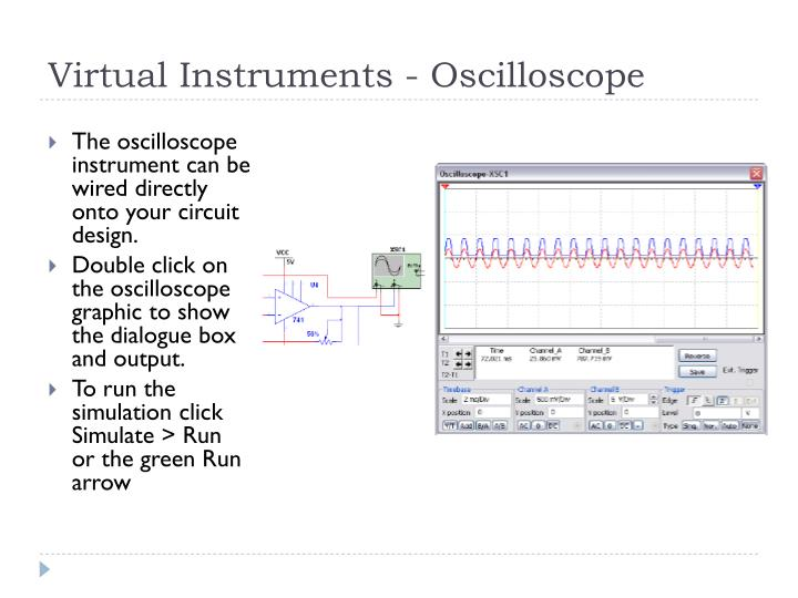 Virtual Instruments - Oscilloscope