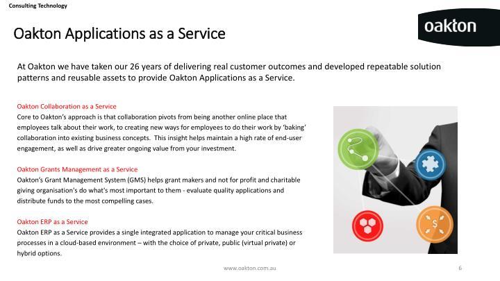 Oakton Applications as a Service