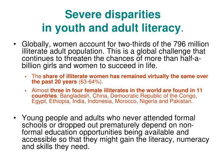 Severe disparities