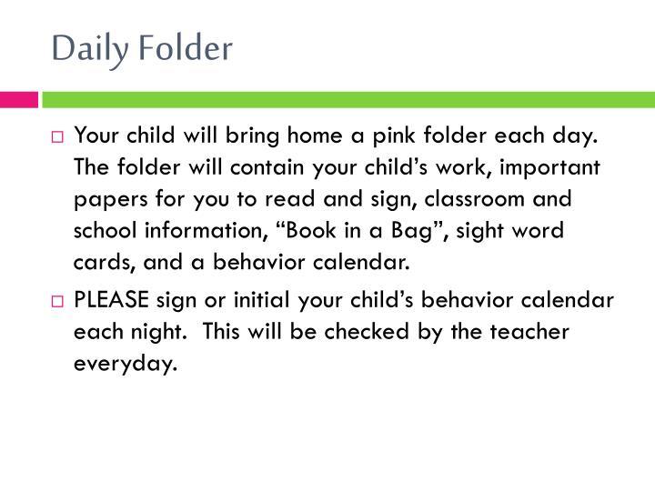 Daily Folder