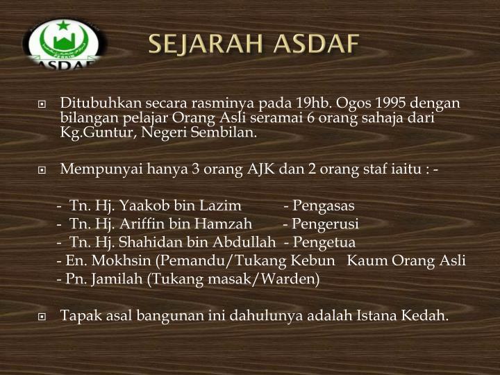 Sejarah asdaf