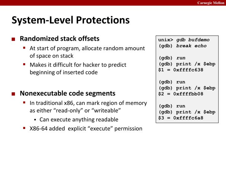 System-Level Protections