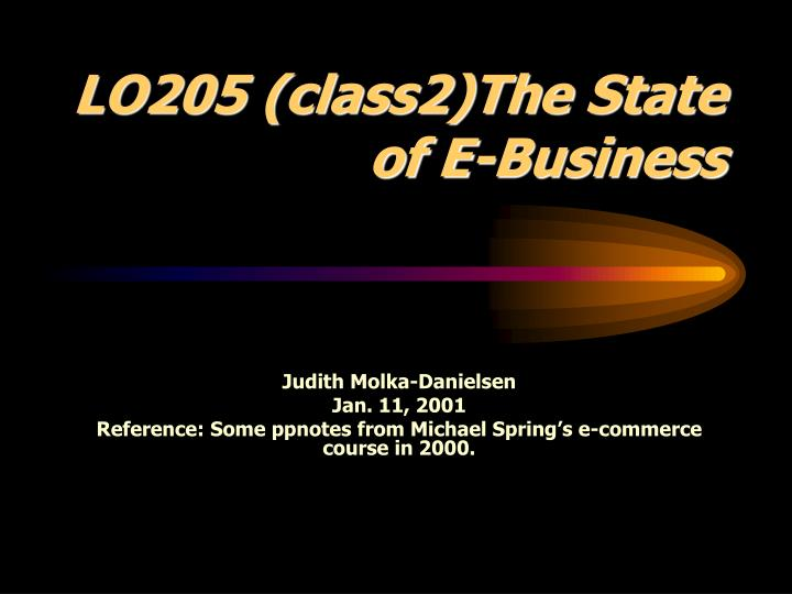lo205 class2 the state of e business n.
