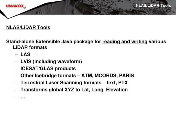 NLAS/LiDAR Tools