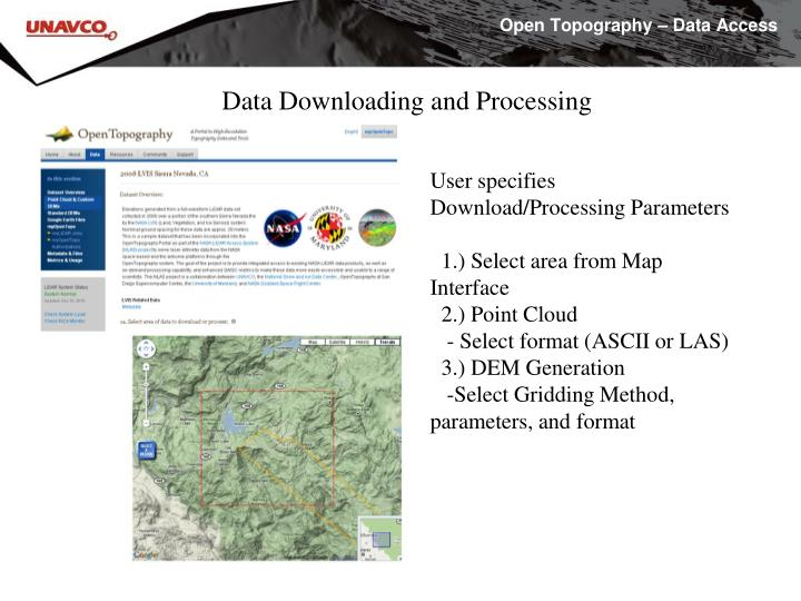 Open Topography – Data Access