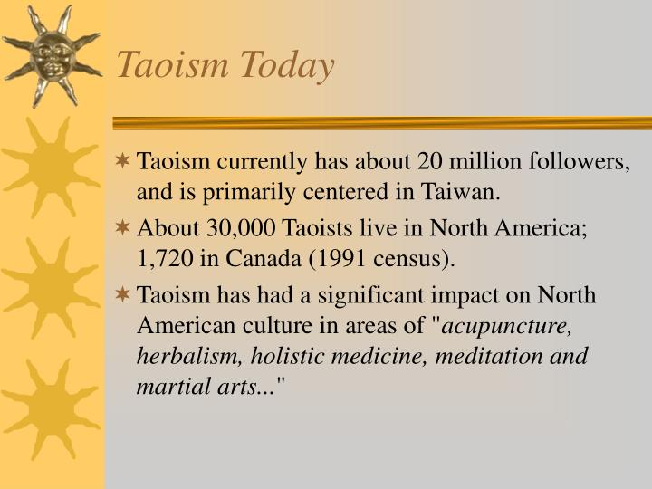 Taoism Today