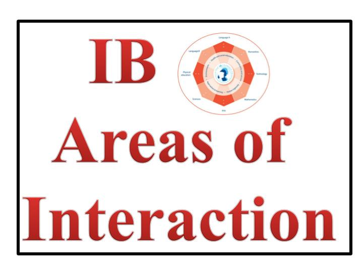 ib areas of interaction n.