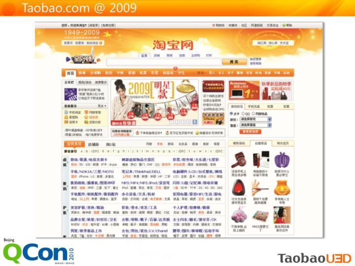 Taobao.com @ 2009