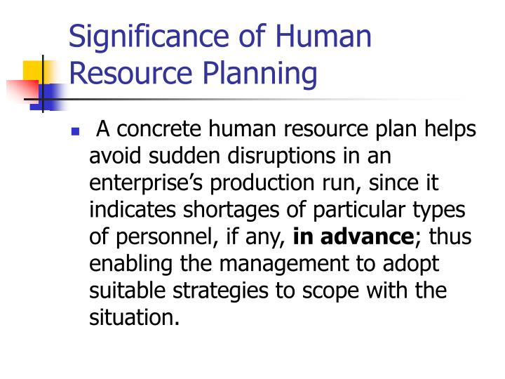 types of human resource planning