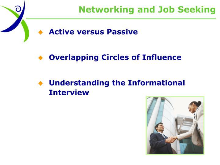 Networking and Job Seeking