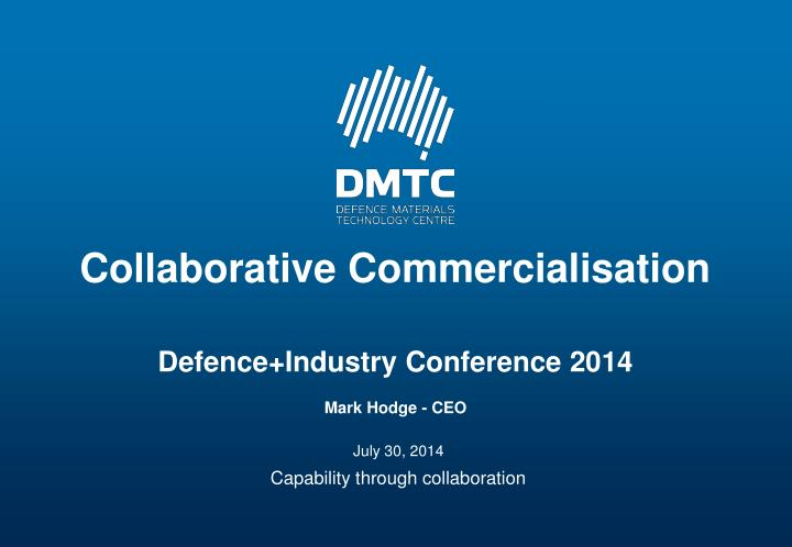 collaborative commercialisation n.