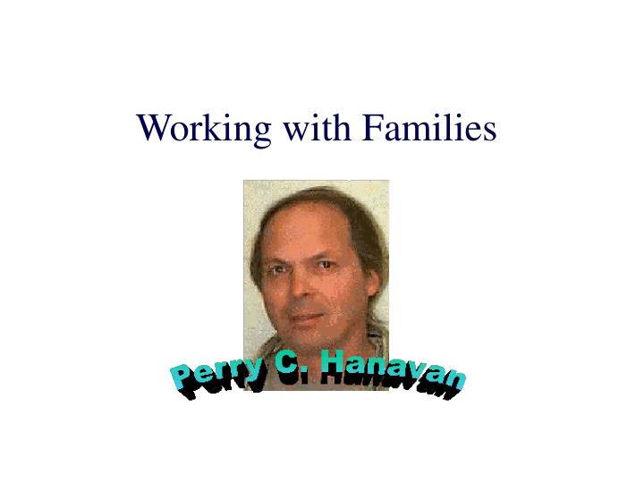 working with families n.