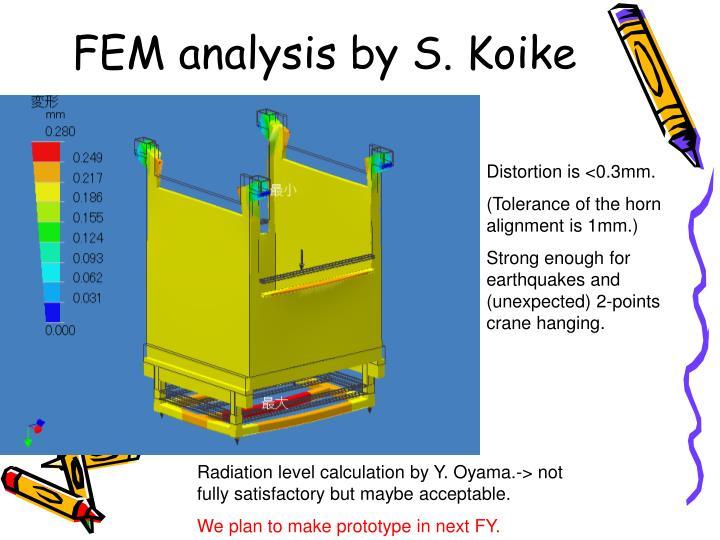 FEM analysis by S. Koike