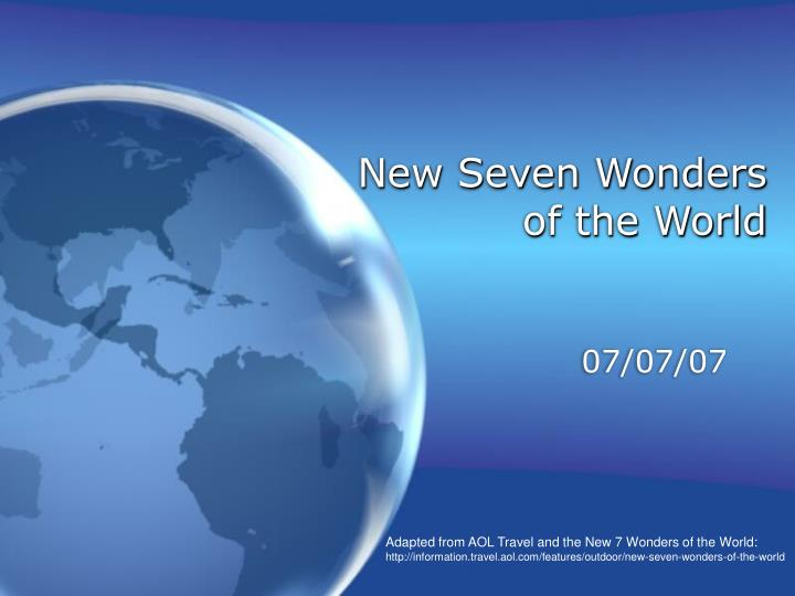 new seven wonders of the world n.
