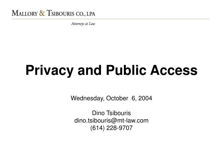 privacy and public access n.
