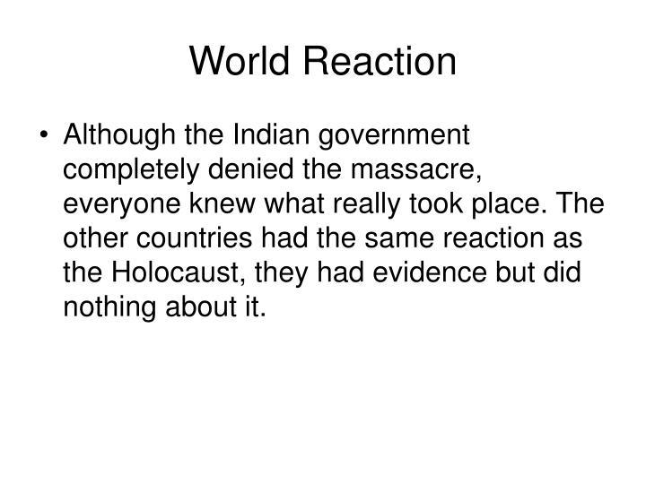 World Reaction