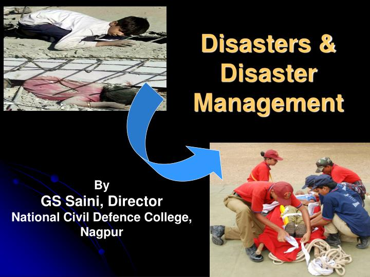 disasters disaster management n.