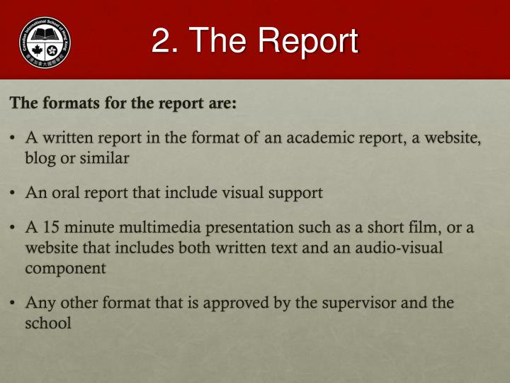 2. The Report