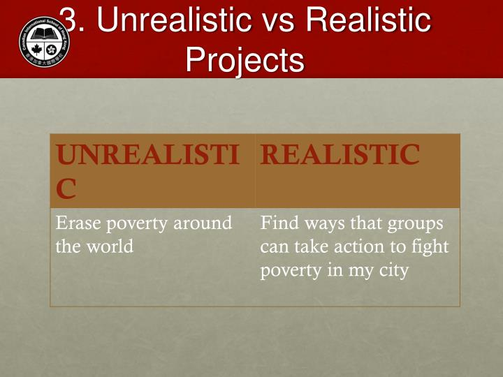 3. Unrealistic