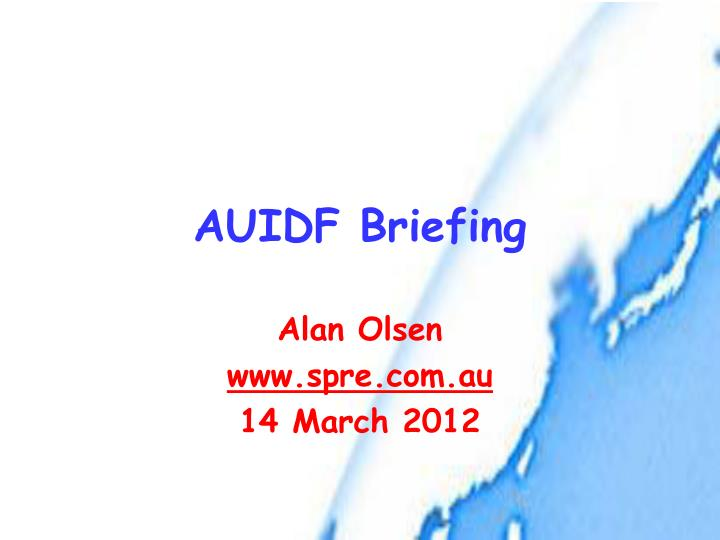 auidf briefing n.