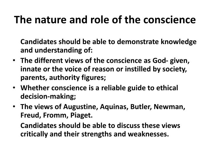 the nature and role of the conscience n.