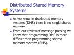 distributed shared memory systems1