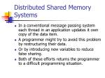 distributed shared memory systems13
