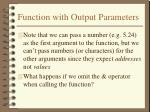 function with output parameters4