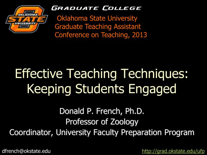 effective teaching techniques keeping students engaged n.