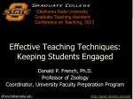 effective teaching techniques keeping students engaged